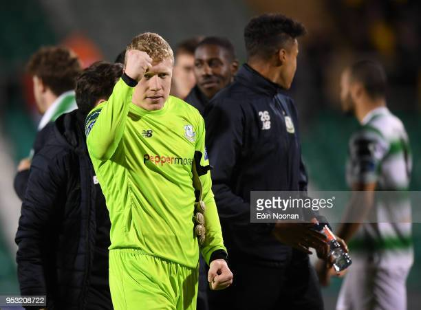 Dublin Ireland 30 April 2018 Kevin Horgan of Shamrock Rovers celebrates following the SSE Airtricity League Premier Division match between Shamrock...