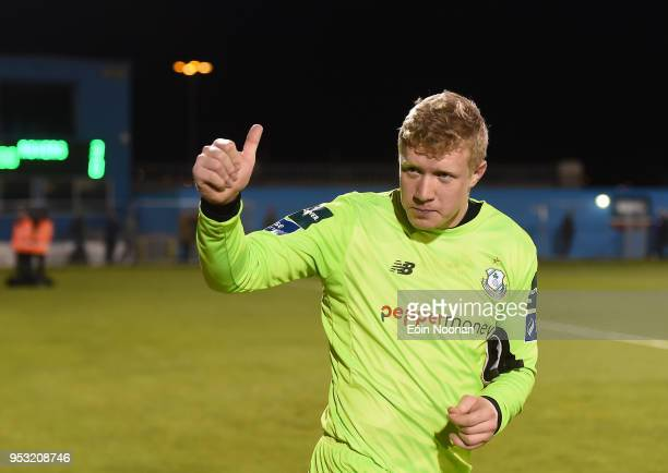 Dublin Ireland 30 April 2018 Kevin Horgan of Shamrock Rovers acknowledges the supporters following the SSE Airtricity League Premier Division match...