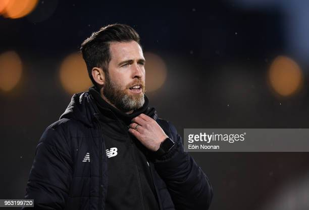 Dublin Ireland 30 April 2018 Shamrock Rovers manager Stephen Bradley during the SSE Airtricity League Premier Division match between Shamrock Rovers...