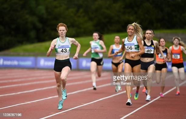 Dublin , Ireland - 30 August 2020; Iseult O'Donnell of Raheny Shamrock AC, Dublin on her way to winning the Women's 800m event, ahead of Amy...