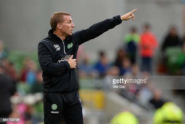Dublin Ireland 30 July 2016 Glasgow Celtic manager Brendan Rogers during the International Champions Cup match between Glasgow Celtic and Barcelona...