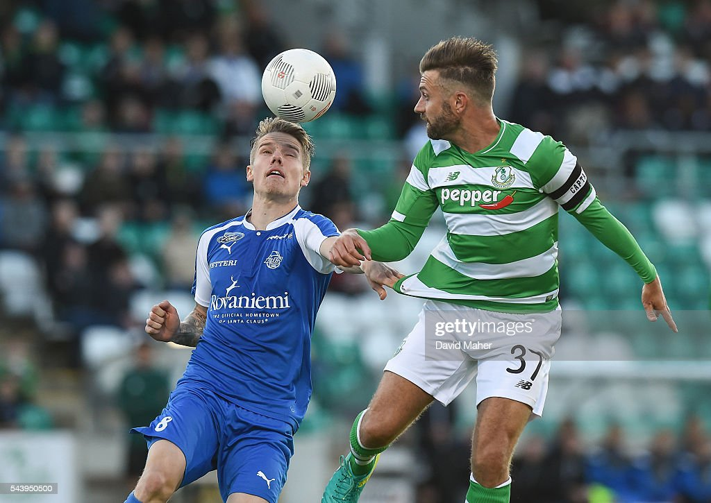 Shamrock Rovers v RoPS Rovaniemi - UEFA Europa League First Qualifying Round 1st Leg : News Photo