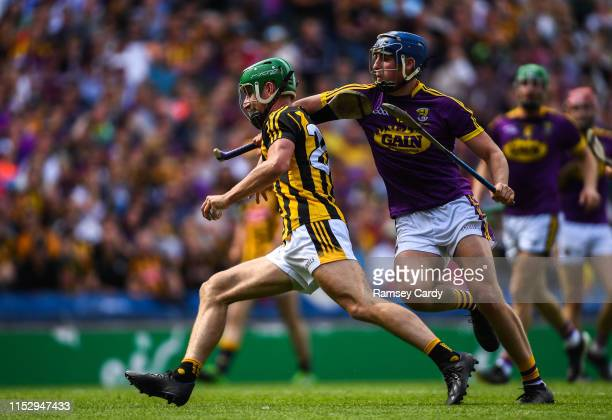 Dublin , Ireland - 30 June 2019; Alan Murphy of Kilkenny is tackled by Shane Reck of Wexford during the Leinster GAA Hurling Senior Championship...