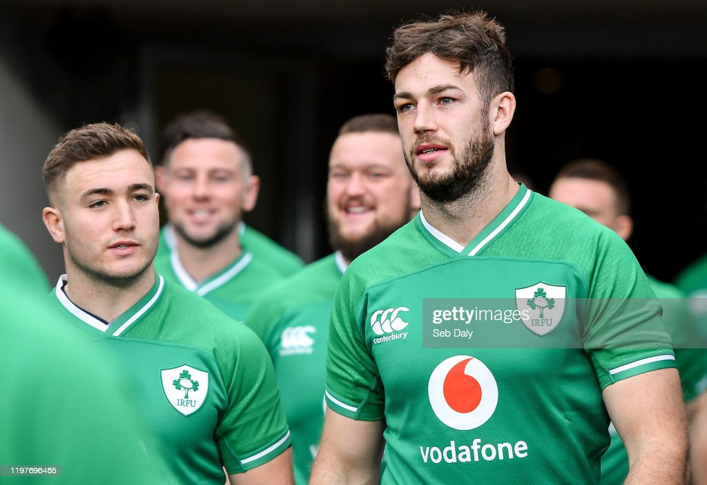 Ireland Rugby Captain's Run and Press Conference : ニュース写真