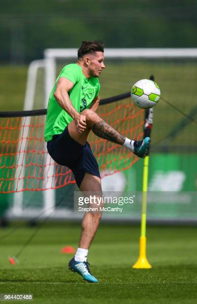 Dublin Ireland 31 May 2018 Alan Browne during a Republic of Ireland training session at the FAI National Training Centre in Abbotstown Dublin