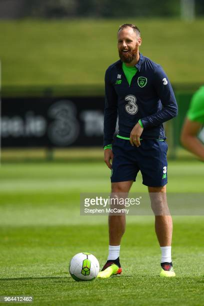 Dublin Ireland 31 May 2018 David Meyler during a Republic of Ireland training session at the FAI National Training Centre in Abbotstown Dublin