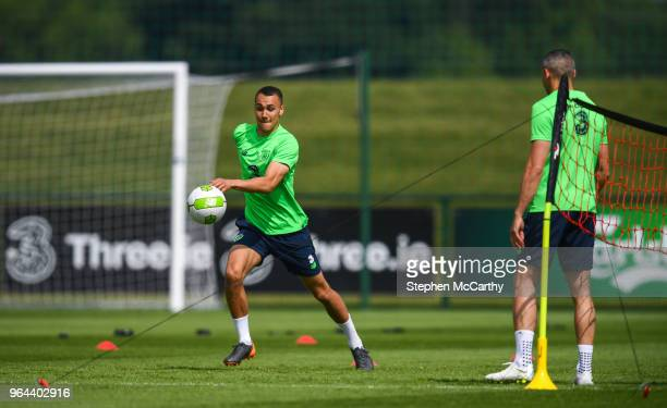 Dublin Ireland 31 May 2018 Graham Burke during a Republic of Ireland training session at the FAI National Training Centre in Abbotstown Dublin