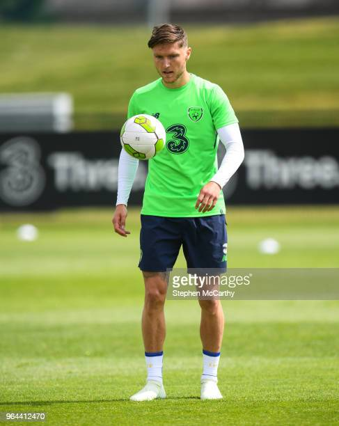 Dublin Ireland 31 May 2018 Jeff Hendrick during a Republic of Ireland training session at the FAI National Training Centre in Abbotstown Dublin