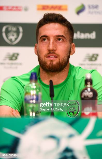 Dublin Ireland 31 May 2018 Matt Doherty during a Republic of Ireland press conference at the FAI National Training Centre in Abbotstown Dublin