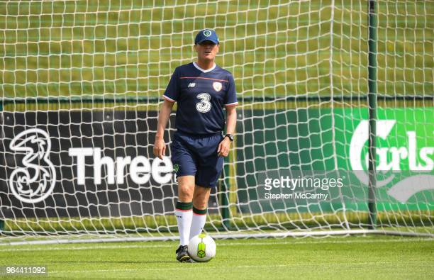 Dublin Ireland 31 May 2018 Republic of Ireland assistant manager Roy Keane during a training session at the FAI National Training Centre in...