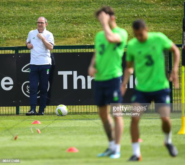 Dublin Ireland 31 May 2018 Republic of Ireland manager Martin O'Neill during a training session at the FAI National Training Centre in Abbotstown...