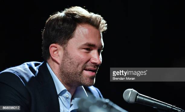 Dublin Ireland 31 October 2017 Boxing promoter Eddie Hearn during a press conference at the Irish Film Institute in Temple Bar Dublin