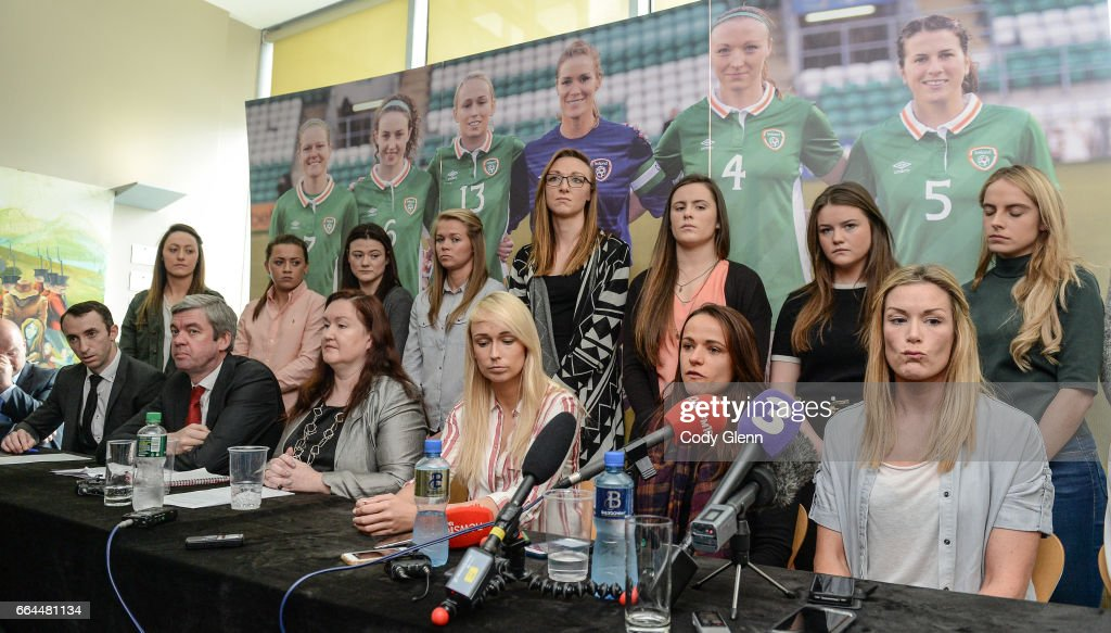 Republic of Ireland Women's National Team Press Conference : News Photo