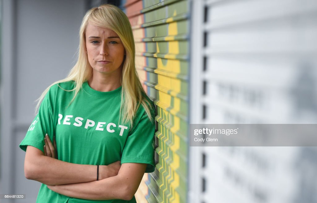 Dublin , Ireland - 4 April 2017; Stephanie Roche of Republic of Ireland following a women's national team press conference at Liberty Hall in Dublin.