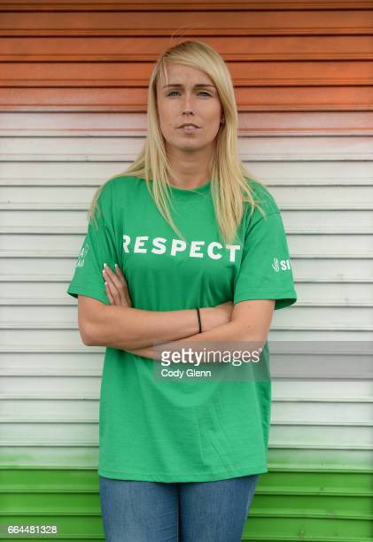 Dublin Ireland 4 April 2017 Stephanie Roche of Republic of Ireland following a women's national team press conference at Liberty Hall in Dublin