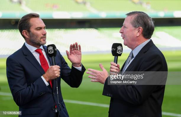 Dublin Ireland 4 August 2018 Former Liverpool and Republic of Ireland internationals Jason McAteer left and Ronnie Whelan during the Pre Season...