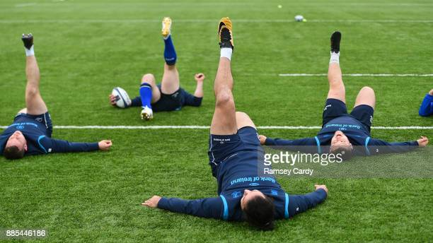 Dublin Ireland 4 December 2017 James Lowe during Leinster rugby squad training at Donnybrook Stadium in Dublin