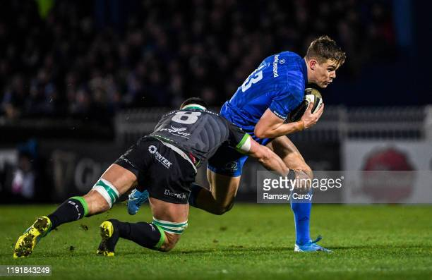 Dublin Ireland 4 January 2020 Garry Ringrose of Leinster is tackled by Robin Copeland of Connacht during the Guinness PRO14 Round 10 match between...