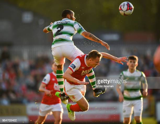 Dublin , Ireland - 4 May 2018; Ethan Boyle of Shamrock Rovers in action against Jamie Lennon of St Patrick's Athletic during the SSE Airtricity...