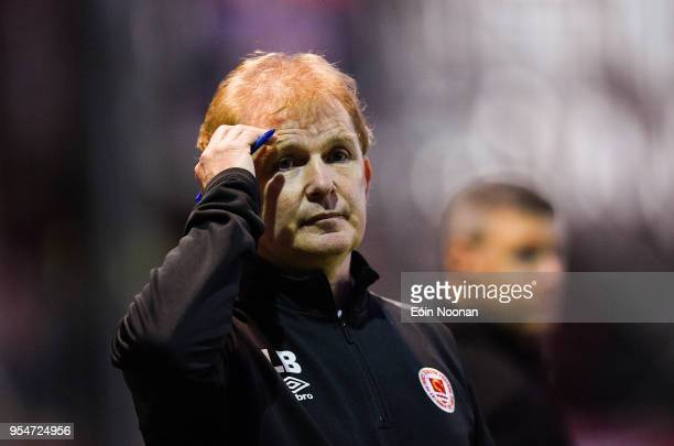 Dublin , Ireland - 4 May 2018; Manager of St Patrick's Athletic Liam Buckley during the SSE Airtricity League Premier Division match between St...