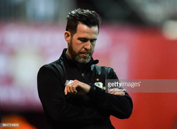 Dublin , Ireland - 4 May 2018; Shamrock Rovers manager Stephen Bradley during the SSE Airtricity League Premier Division match between St Patrick's...