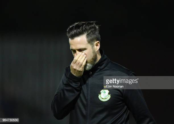Dublin , Ireland - 4 May 2018; Shamrock Rovers manager Stephen Bradley following the SSE Airtricity League Premier Division match between St...