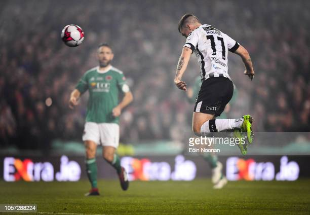 Dublin Ireland 4 November 2018 Patrick McEleney of Dundalk scores his side's second goal during the Irish Daily Mail FAI Cup Final match between Cork...