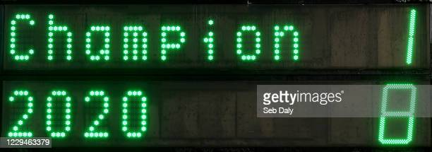 Dublin , Ireland - 4 November 2020; A view of the scoreboard following the SSE Airtricity League Premier Division match between Shamrock Rovers and...