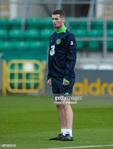 Dublin Ireland 4 October 2017 Republic of Ireland's Corey Whelan during squad training at Tallaght Stadium in Dublin