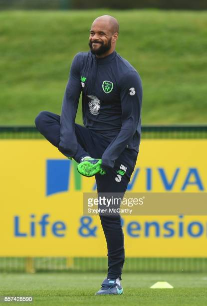 Dublin Ireland 4 October 2017 Republic of Ireland's David McGoldrick during squad training at the FAI National Training Centre in Abbotstown Dublin