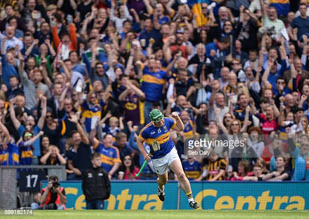 Dublin , Ireland - 4 September 2016; John ODwyer of Tipperary celebrates after scoring his team's first goal during the GAA Hurling All-Ireland...