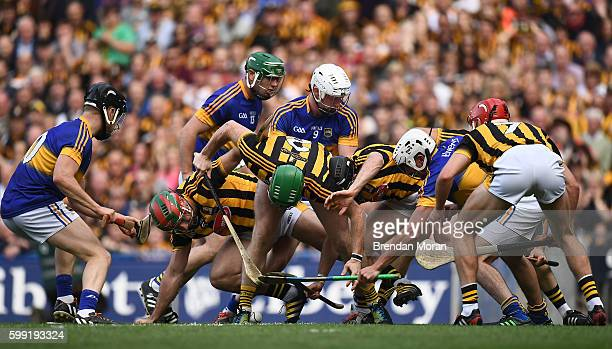 Dublin Ireland 4 September 2016 Tipperary players from left Dan McCormack John ODwyer Michael Breen and Patrick Maher contest for possession with...