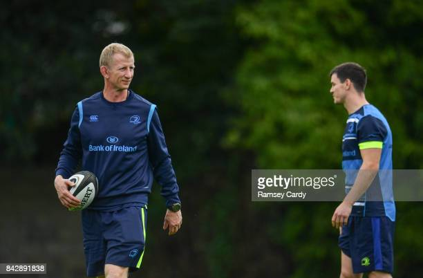 Dublin Ireland 4 September 2017 Leinster head coach Leo Cullen during squad training at UCD in Dublin