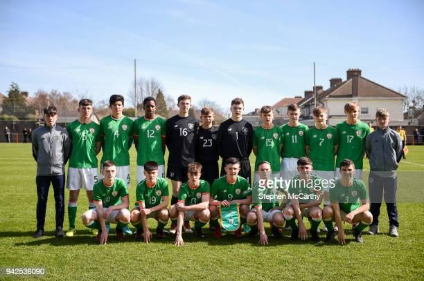 Dublin Ireland 5 April 2018 The Republic of Ireland squad back row from left Colin Conroy Oisin Hand Anselmo Garcia MacNulty Bosun Lawal Daniel Rose...