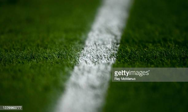 Dublin , Ireland - 5 December 2020; A general view of paint on the sideline of the pitch after the GAA Football All-Ireland Senior Championship...