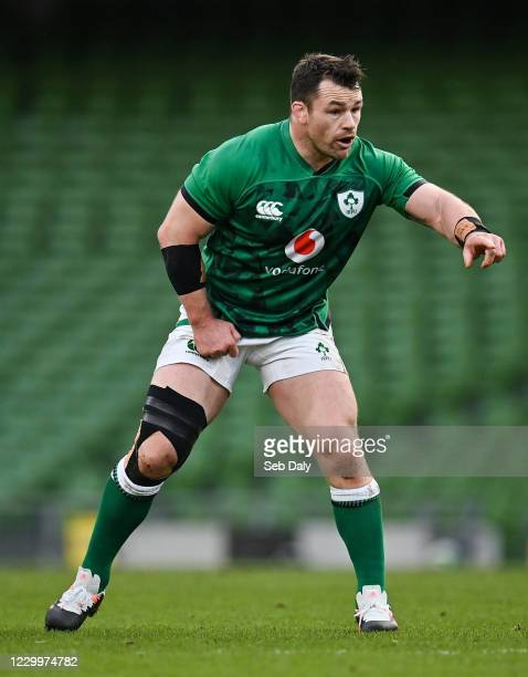 Dublin , Ireland - 5 December 2020; Cian Healy of Ireland during the Autumn Nations Cup match between Ireland and Scotland at the Aviva Stadium in...