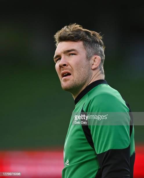 Dublin , Ireland - 5 December 2020; Peter O'Mahony of Ireland during the Autumn Nations Cup match between Ireland and Scotland at the Aviva Stadium...