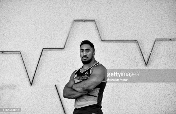 Dublin Ireland 5 June 2018 Bundee Aki poses for a portrait after an Ireland rugby press conference at Royal Pines Resort in Queensland Australia