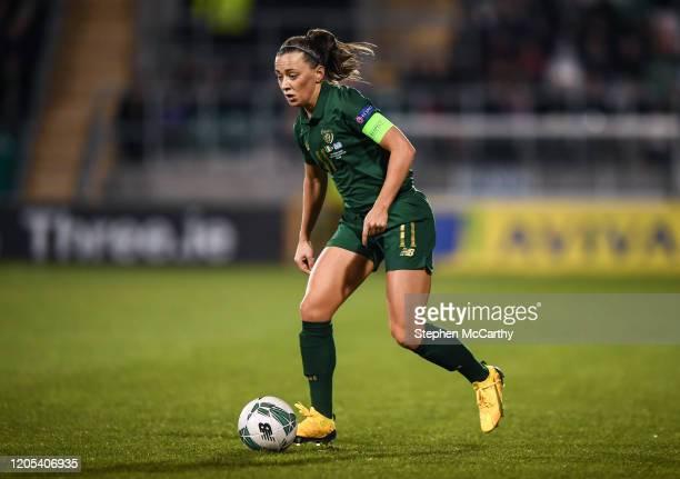 Dublin Ireland 5 March 2020 Katie McCabe of Republic of Ireland during the UEFA Women's 2021 European Championships Qualifier match between Republic...