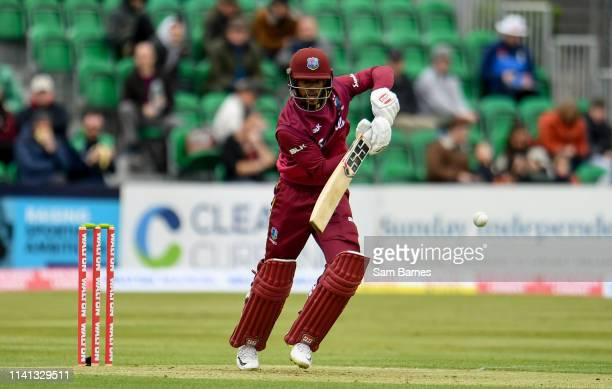 Dublin Ireland 5 May 2019 Shai Hope of West Indies during the One Day International between Ireland and West Indies at Clontarf Cricket Club in...