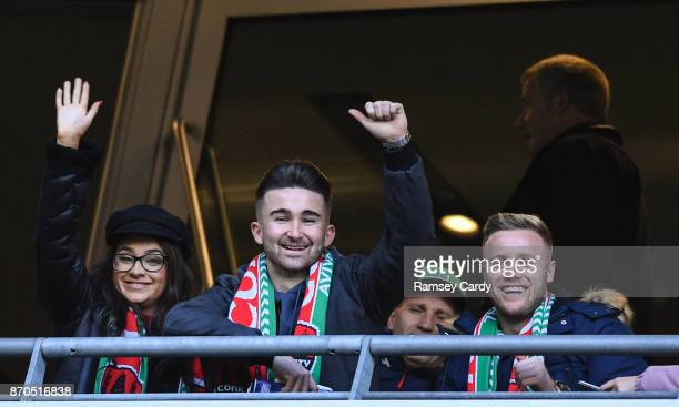 Dublin Ireland 5 November 2017 Former Cork City players Sean Maguire left and Kevin O'Connor during the Irish Daily Mail FAI Senior Cup Final match...