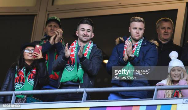 Dublin , Ireland - 5 November 2017; Former Cork City players Sean Maguire, left, and Kevin O'Connor during the Irish Daily Mail FAI Senior Cup Final...
