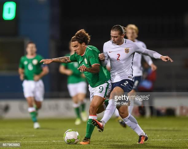 Dublin Ireland 5 October 2017 Reece GregoCox of Republic of Ireland in action against Julian Ryerson of Norway during the UEFA European U21...