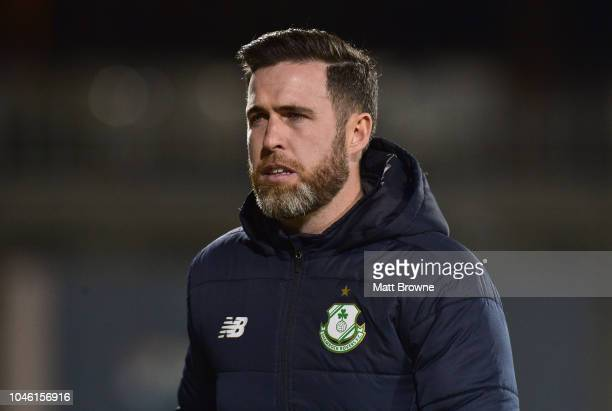 Dublin Ireland 5 October 2018 Shamrock Rovers manager Stephen Bradley during the SSE Airtricity League Premier Division match between Shamrock Rovers...