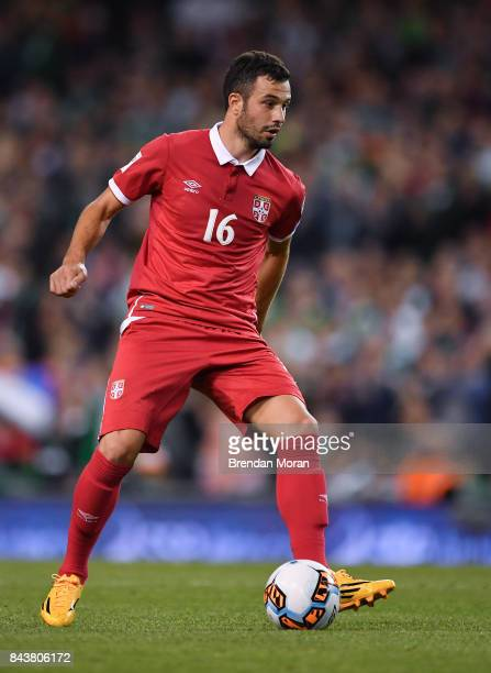 Dublin Ireland 5 September 2017 Luka Milivojevi of Serbia during the FIFA World Cup Qualifier Group D match between Republic of Ireland and Serbia at...