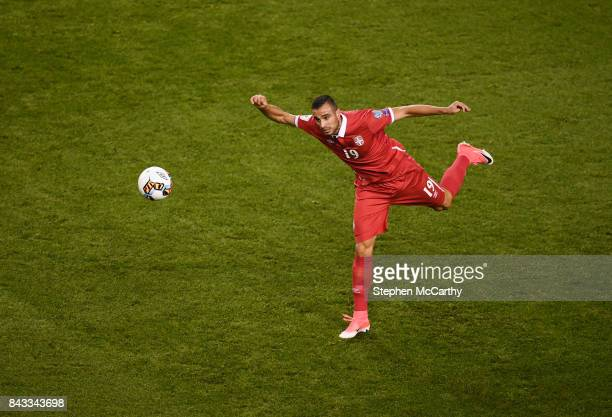 Dublin Ireland 5 September 2017 Nikola Maksimovi of Serbia during the FIFA World Cup Qualifier Group D match between Republic of Ireland and Serbia...