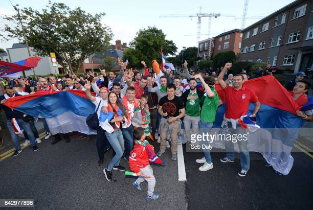 Dublin Ireland 5 September 2017 Serbia and Republic of Ireland supporters prior to the FIFA World Cup Qualifier Group D match between Republic of...