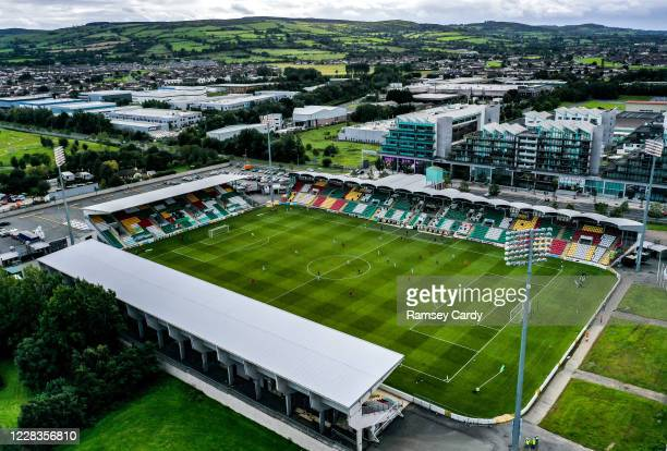 Dublin , Ireland - 5 September 2020; A general view of the action during the SSE Airtricity League Premier Division match between Shamrock Rovers and...