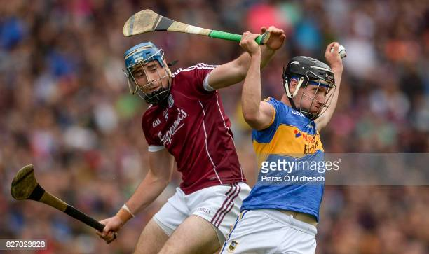 Dublin Ireland 6 August 2017 Dan McCormack of Tipperary in action against Conor Cooney of Galway during the GAA Hurling AllIreland Senior...