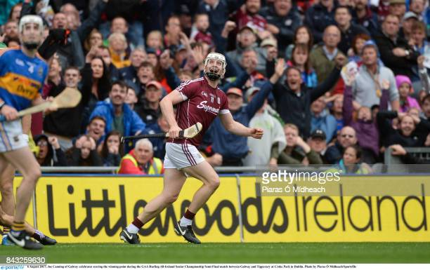 Dublin Ireland 6 August 2017 Joe Canning of Galway celebrates scoring the winning point during the GAA Hurling AllIreland Senior Championship...